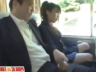 Bus Student Handjob Asian Teen Bus + Asian Bus + Public