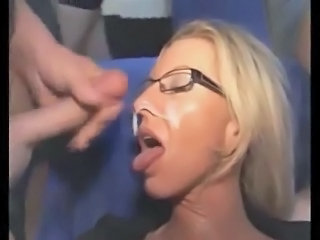 mature blonde bukkake