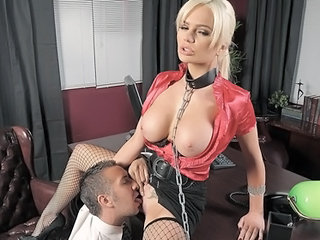 Office Pornstar Licking Big Tits Blonde Big Tits Milf Fishnet