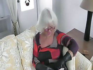 MILF Glasses Leather Milf Ass