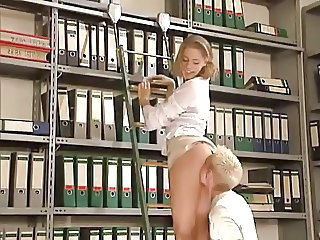 Clothed Teen Office Office Teen Teen Licking