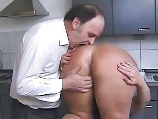 Kinky Couple in the Kitchen
