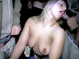 Dogging MILF with strangers (Night in the Park)