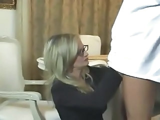 Teacher Glasses Handjob Milf Ass