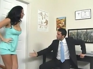 Foot Fetish activity inside A Doctor's Office around Bigtitted pussy Jayden...