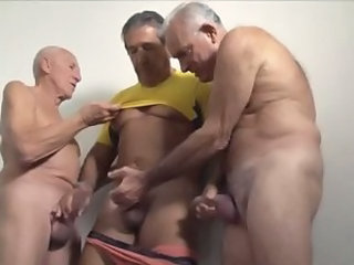 Threesome Mature Handjob