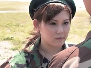 Army Uniform Outdoor Asian Teen Japanese Teen Outdoor