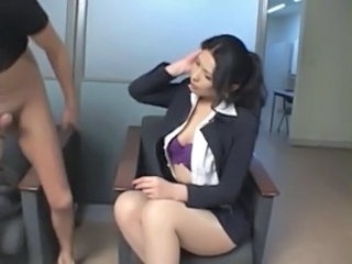 Busty Asian Secretary Rides Her Bosses Dick In His Office