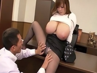 Video from: tnaflix | Busty asian Hitomi Tanaka at the office having her huge tits cherished by a guy
