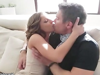 Presley Harts new husband loves cumming on her small tits after fucking her