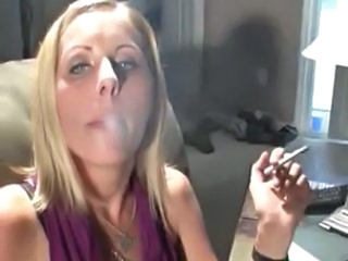 Hot Blonde MILF 120s Smoking