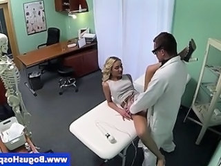 Hot fuck action with doctor and patient