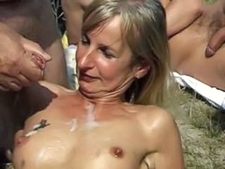 Gangbang Outdoor Cumshot Outdoor Sperm