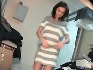 Hot Brunette Dress Hidden Cam