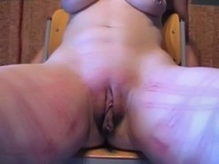 Amateur Slave Session whip