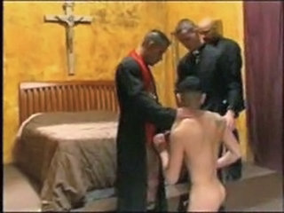 Catholic priests in action