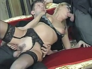 Double feature of a couple of hot double penetration scenes