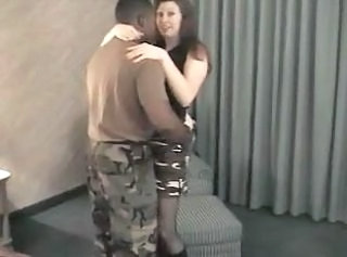 Army Interracial MILF Wife Wife Milf Big Cock Anal