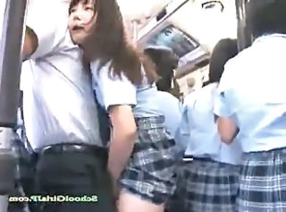 Uniform Bus Japanese Asian Teen Bus + Asian Bus + Public