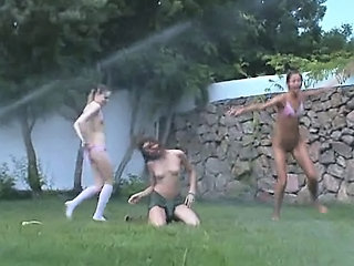 "Russian chicks watersports in the grass"" class=""th-mov"