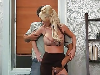Big Tit Blonde Boss With Handy Man
