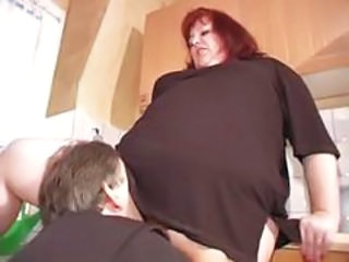 Older  Redhead Bbw Mature Kitchen Mature Mature Bbw