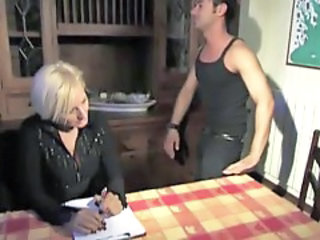 Mom Old And Young European Italian Mature Kitchen Mature Old And Young