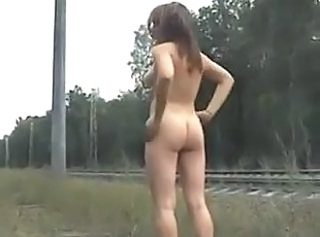 Russian teen public nudity
