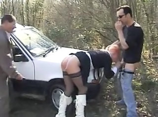 Clothed French Car Blowjob Milf Car Blowjob European