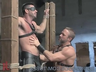 New Muscle God Billy Santoro Bound And Fucked By House Dom