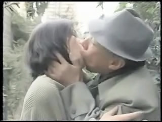 Vintage Daddy Kissing Daddy Japanese Wife Old And Young