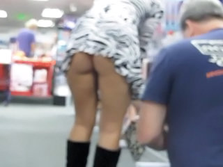 Trina Flashing In Porn Shop