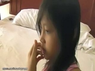 Asian cutie fucked with toys and stuff free
