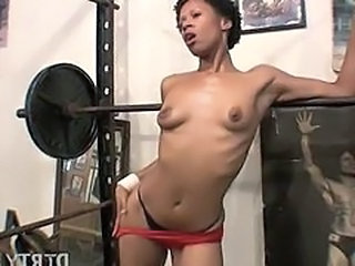 Muscled Sport Ebony Ass Doggy Teen