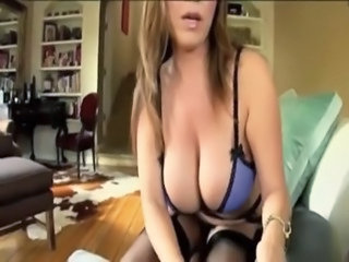 Hot Busty Mom Shows her New Lingerie to Son and Gives him an Amazing Titfuck...