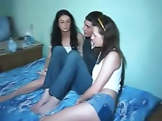 Russian teen 3some