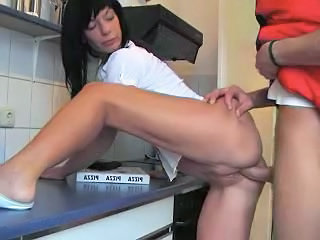 Clothed Doggystyle Kitchen Doggy Teen German Teen Kitchen Teen