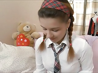 Pigtail Uniform Teen Cute Teen Pigtail Teen School Teen
