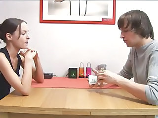 Sister and Not Her Brother Play Strip Poker