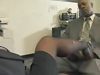 Secretary Legs Office Boss Stockings
