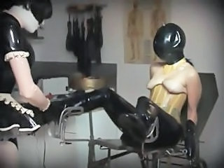 Fetish Latex Mistress Rubber Mature Big Cock Licking Shaved