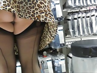 Shopping in seamed stockings 12