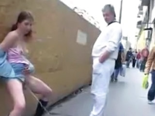 Video from: tnaflix | Another exhib maid and urine in public this girl is one of the most crazy...