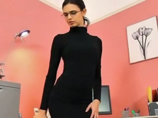 Stripper Office Secretary Babe Ass Cute Ass Cute Brunette