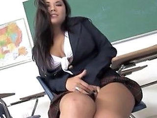 School Student Uniform Asian Babe Stockings