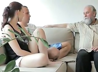Horny old man fucks son& 039;s girlfriend