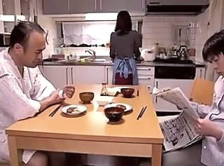 Family Wife Kitchen Daddy Family Japanese Wife