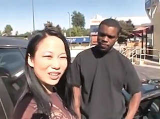 Interracial Chinese Public Asian Teen Chinese Outdoor