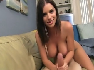 Brooklyn Chase poses for her stepdad, gets so turned on that she jerks his...