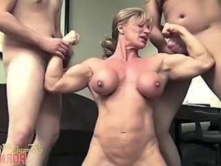 Muscled Wild Big Cock Handjob